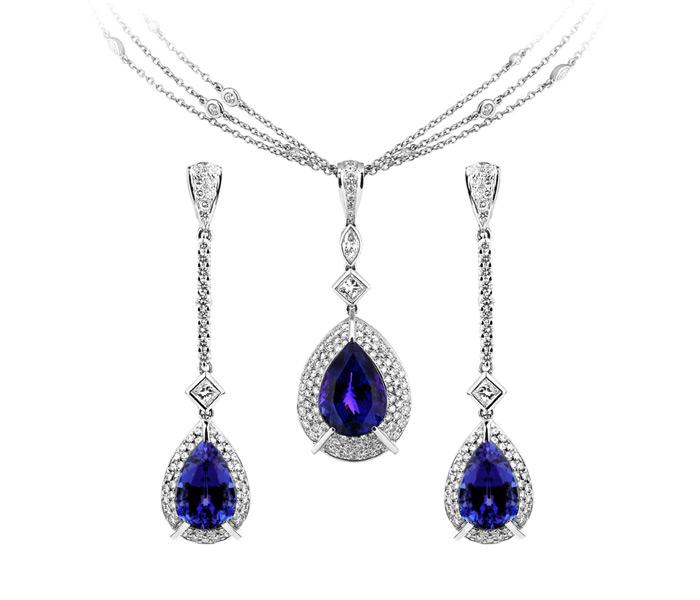 Daniel mitchell bespoke jewellery 18ct gold sapphire diamond set mozeypictures Gallery