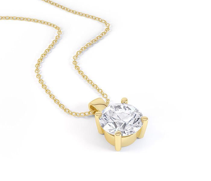 Daniel mitchell bespoke jewellery single stone diamond pendant aloadofball Choice Image